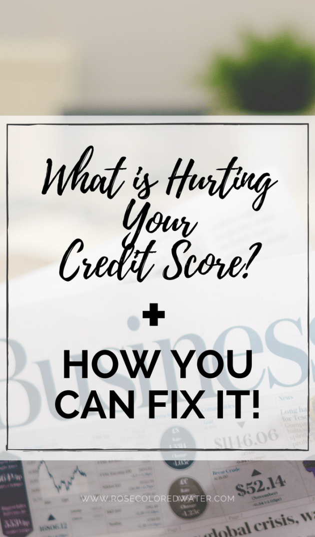 What is hurting your credit score & how you can fix it! #money #debt #personalfinance