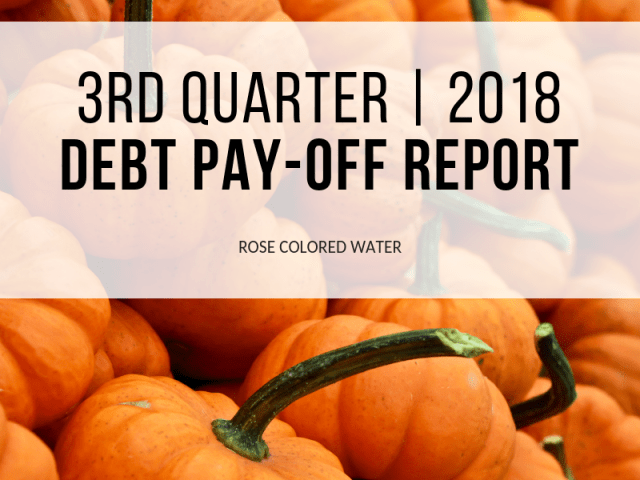 Debt Pay-Off Report | 3rd Quarter | 2018
