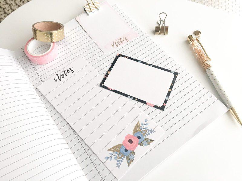 Petite notes à imprimer bullet journal