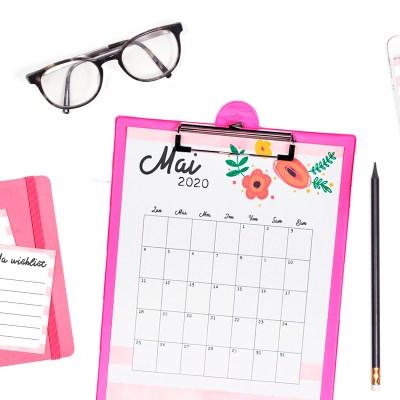 Le calendrier de mai 2020 à imprimer et son kit