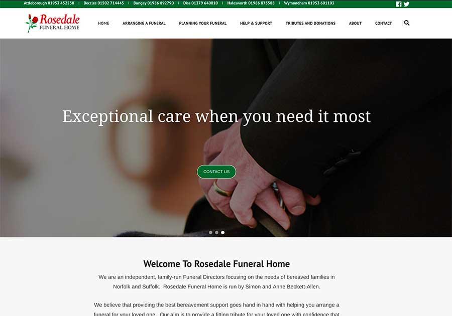 Rosedale Funeral Home website