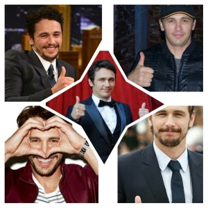 James Franco ngasih two thumbs up