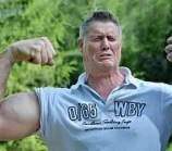 man with big arm