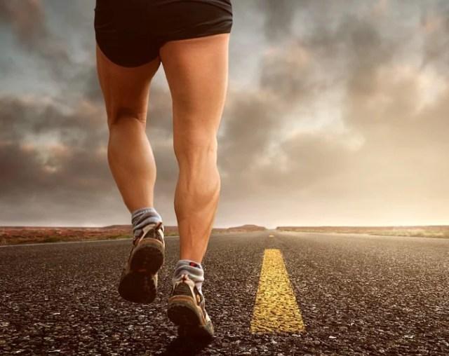 A man jogging