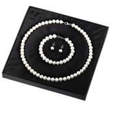 Gemsone Pearl Earrings w Necklace