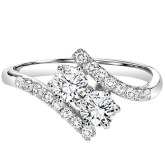 Gemsone Two Stone Anniversary Ring
