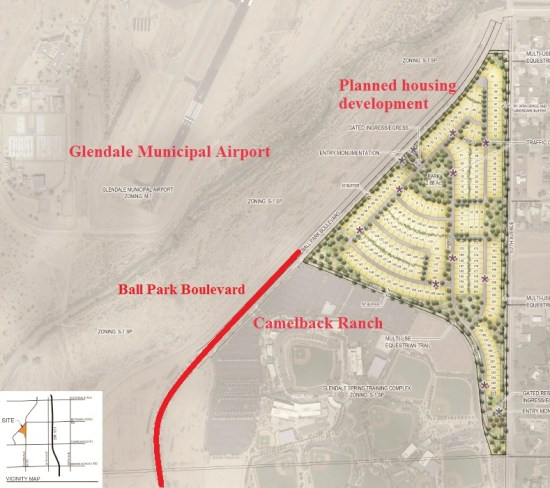 New Phoenix home development to extend road to Camelback ... on petco park map, echo canyon camelback mountain az map, peoria sports complex map, goodyear ballpark map,
