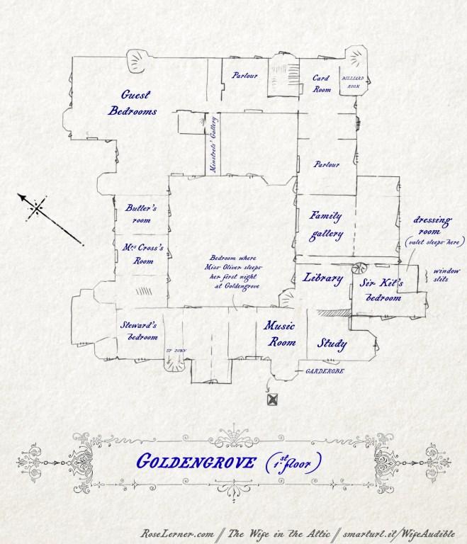 Floor plan of Goldengrove, first floor