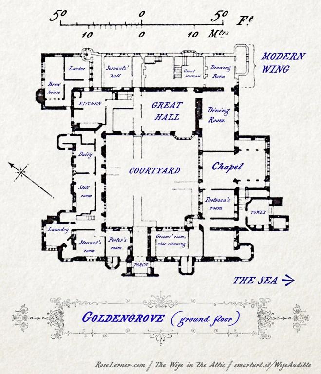 Floor plan of Goldengrove, ground floor