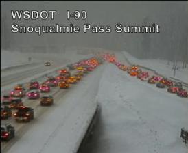 I-90 Snoqualmie Pass snow