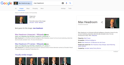 Max Headroom Google Search Results