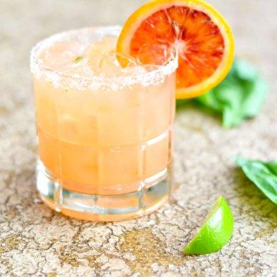 Blood Orange Basil Margarita