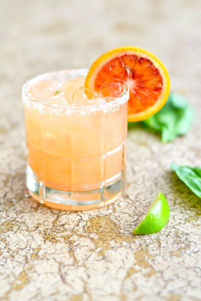 Blood Orange Basil Margarita