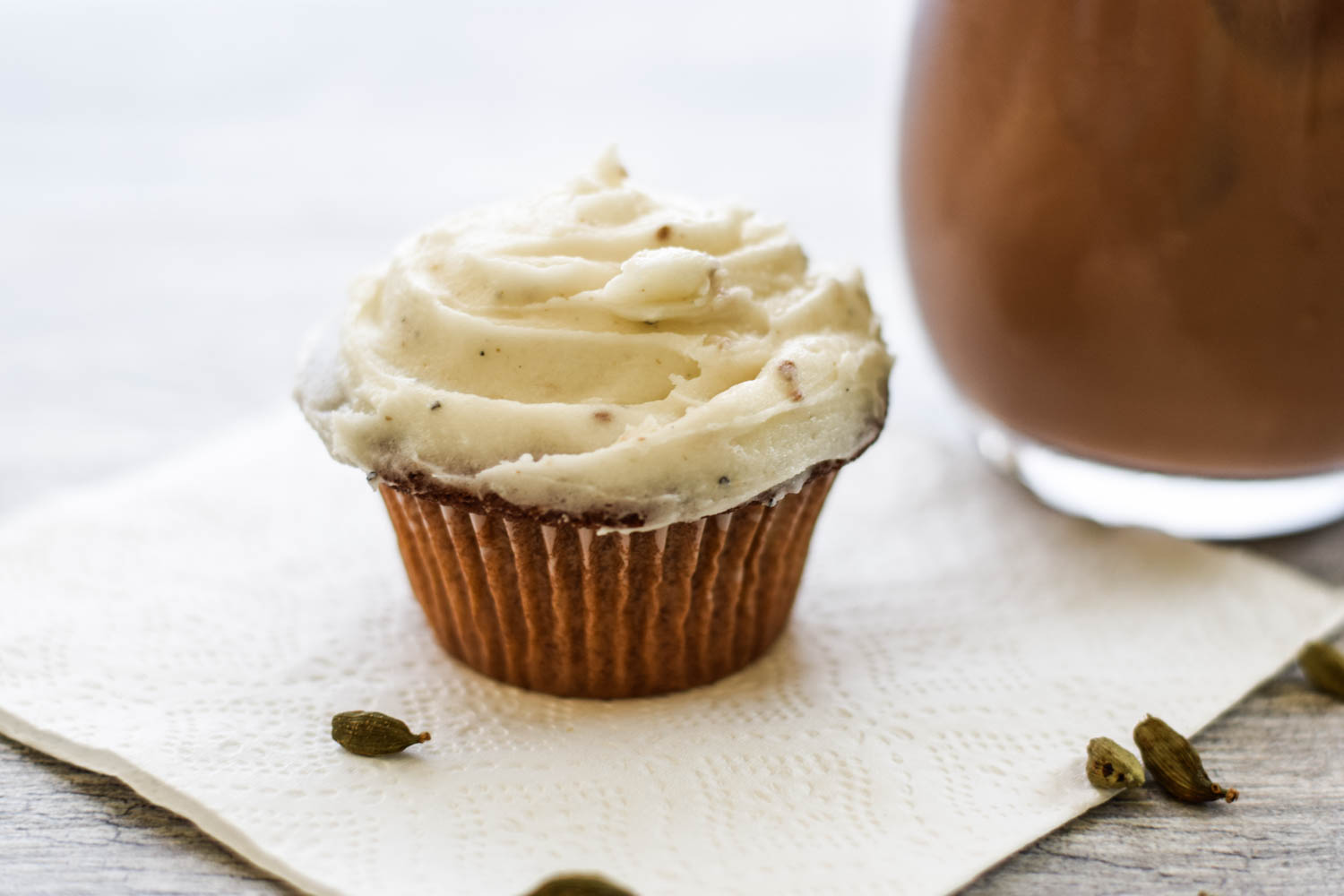 Bhakti Chai Cupcakes with Cardamom Buttercream