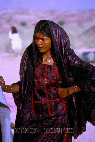 young Touareg woman dressed in best clothes