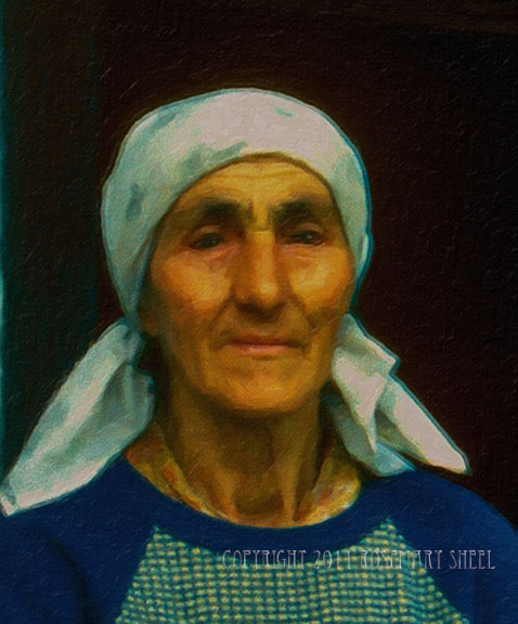portrait of a Romanian farm woman