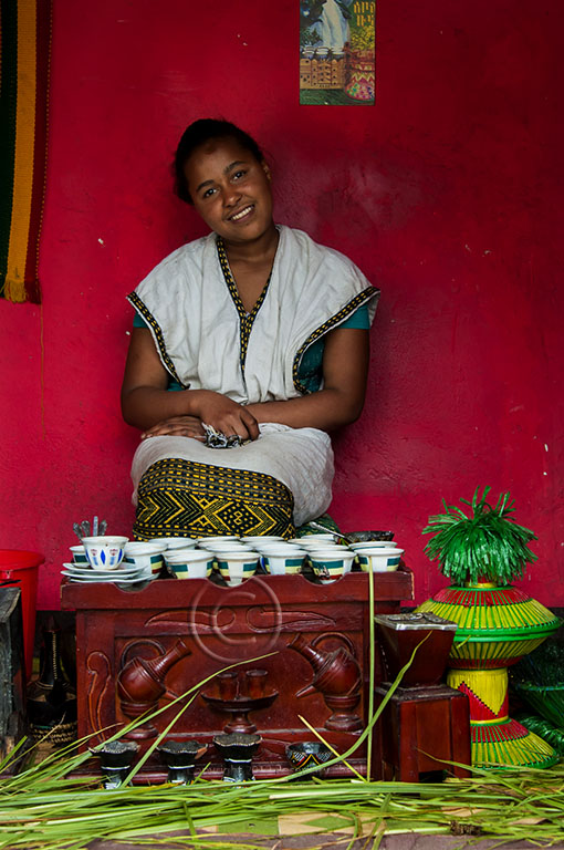 Portrait Of An Ethiopian Coffee Vendor In Addis Ababa Travel Photographs By Rosemary Sheel