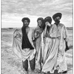 Moors pose for the camera at the infamous salt mines of Taodenni