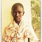 Chinguetti, Mauritania: portrait of a Mauritanian girl wrapped in a shawl