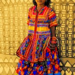 Rabari girl wearing colorful dress
