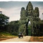 Angkor Thom Gate with pedicab