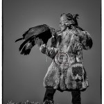 Kazakh hunter with eagle
