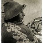 portrait of peruvian woman with distinctive Inca profile