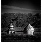 tombs on the steppes of Kazakhstan