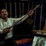 Uzbek musician plays rubab