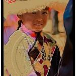 Tibetan girl dressed in best clothes