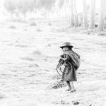 surprise shows on a Quechua girl's face
