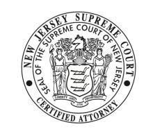 Daniel Rosenberg & Robert Perry New Jersey Supreme Court Certified Attorney Badge