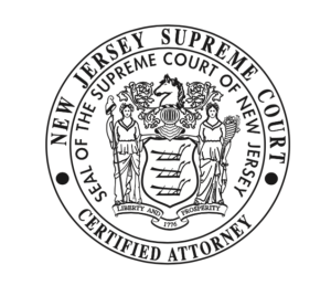 Daniel Rosenberg & Robert Perry New Jersey Supreme Court Certified Attorney Badge