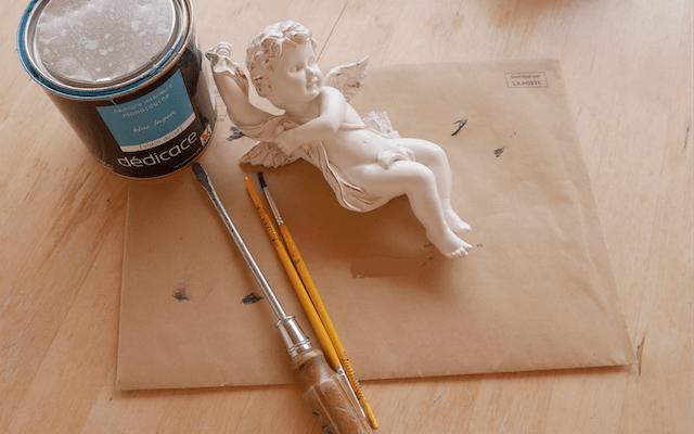 DIY, peinture sure chérubin