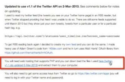 Captura de pantalla de parte del artículo del blog original