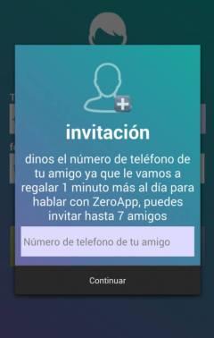 Captura de imagen ilustrativa del funcionamiento de la aplicación ZeroApp
