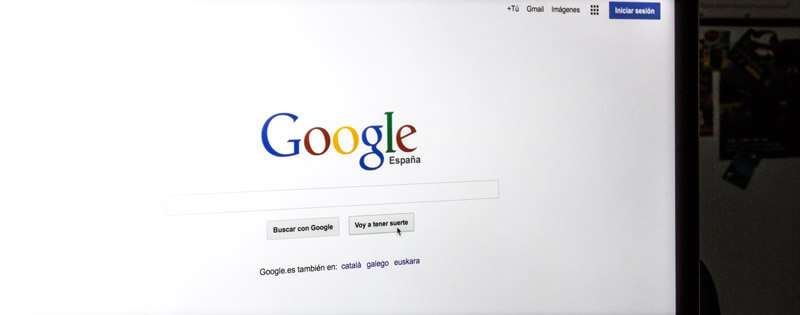 Página de inicio de Google, imagen ilustrativa