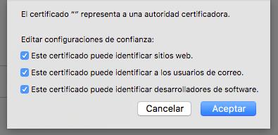 Captura de las tres casillas que hay que marcar para que funcionen los certificados de la FNMT