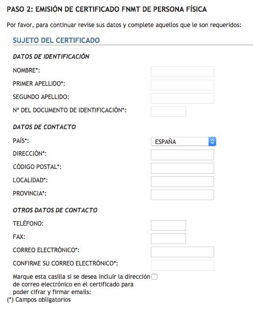 Segundo paso para la renovación del certificado digital