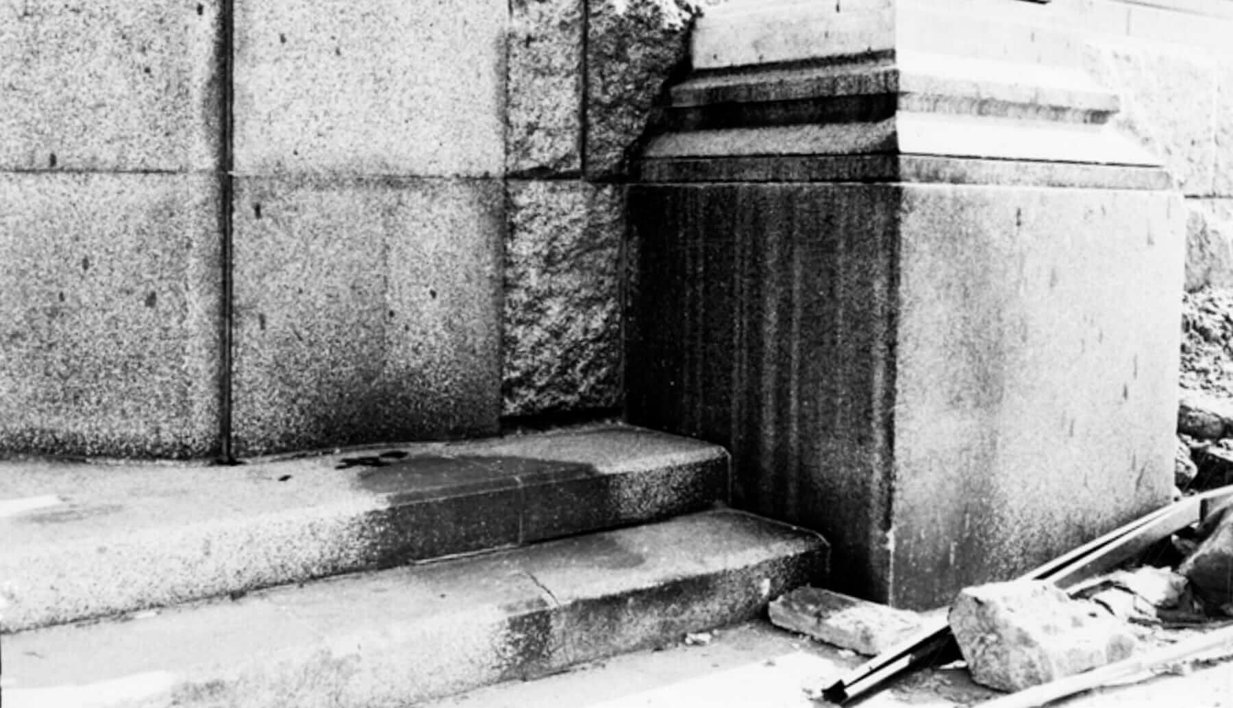 Sombra de una de las víctimas del bombardeo de Hiroshima