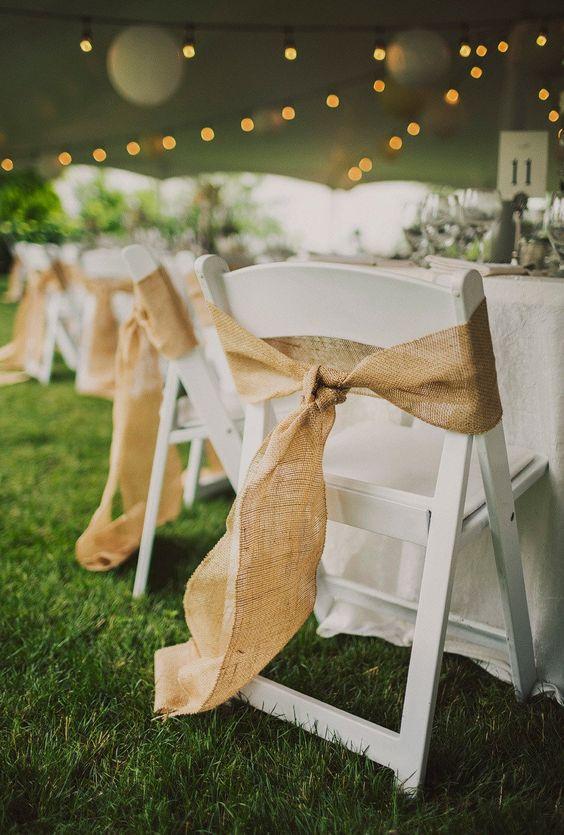 20 Rustic Country Burlap Wedding Chair Decor Ideas Roses