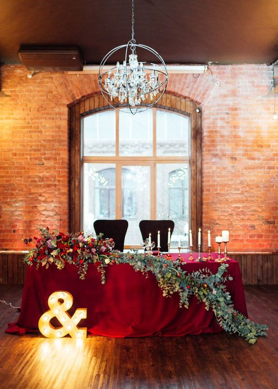 20 Fall Wedding Reception Sweetheart Table Ideas Roses