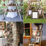 Top 20 Vintage Wooden Ladder Wedding Decor Ideas Roses Rings
