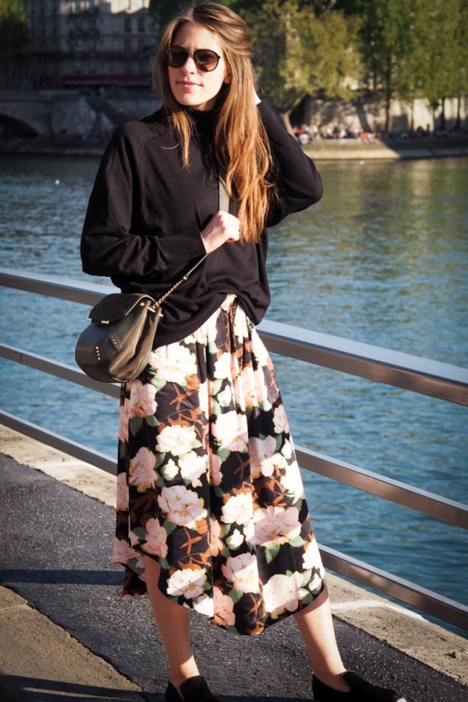 Maxi_flower_skirt_h&M_rosesinparis
