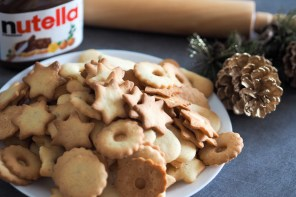 Christmas cookies with Nutella