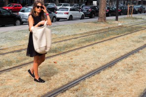 Little black dress & Céline's espadrilles for work