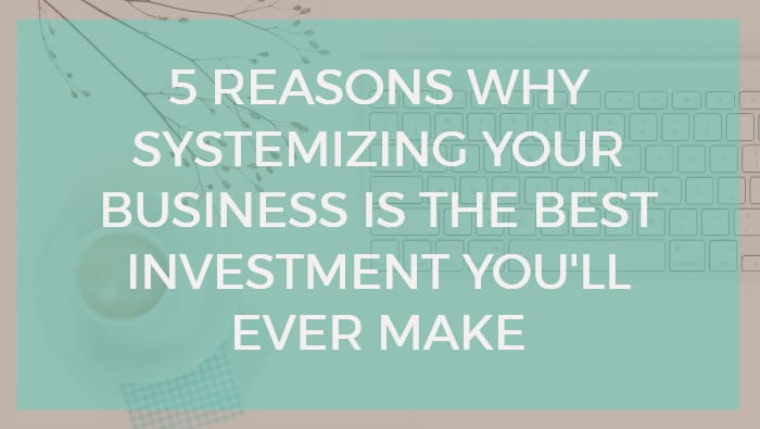 Define Systemize   5 Reasons Why Systemizing Your Business Is The Best Investment You