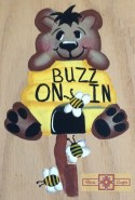 Rosie Crafts Buzzing Bear Painted Sign