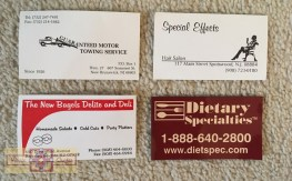 Rosie Crafts Company Business Cards Designs