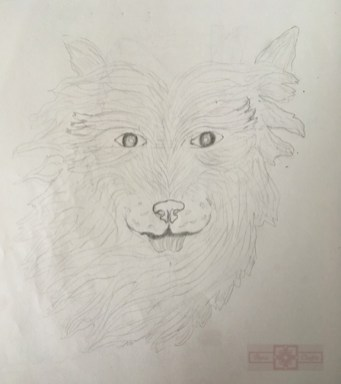 Artisan Tribes Wolf Drawing